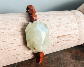 Aromatherapy Bracelet - Red Jasper - Gemstone Bracelet - Green Tree Jasper Stone - Boho - Holistic Healing -Handmade by Kylene Marie Designs
