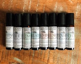 Essential Oil Roller - Natural Healing - Wellness - Calm - Sleep - Tension - Uplifting - Focus - Breathe - Stocking Stuffers - Holistic