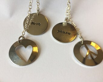 Peace and Love Charms (2 Full Sets)