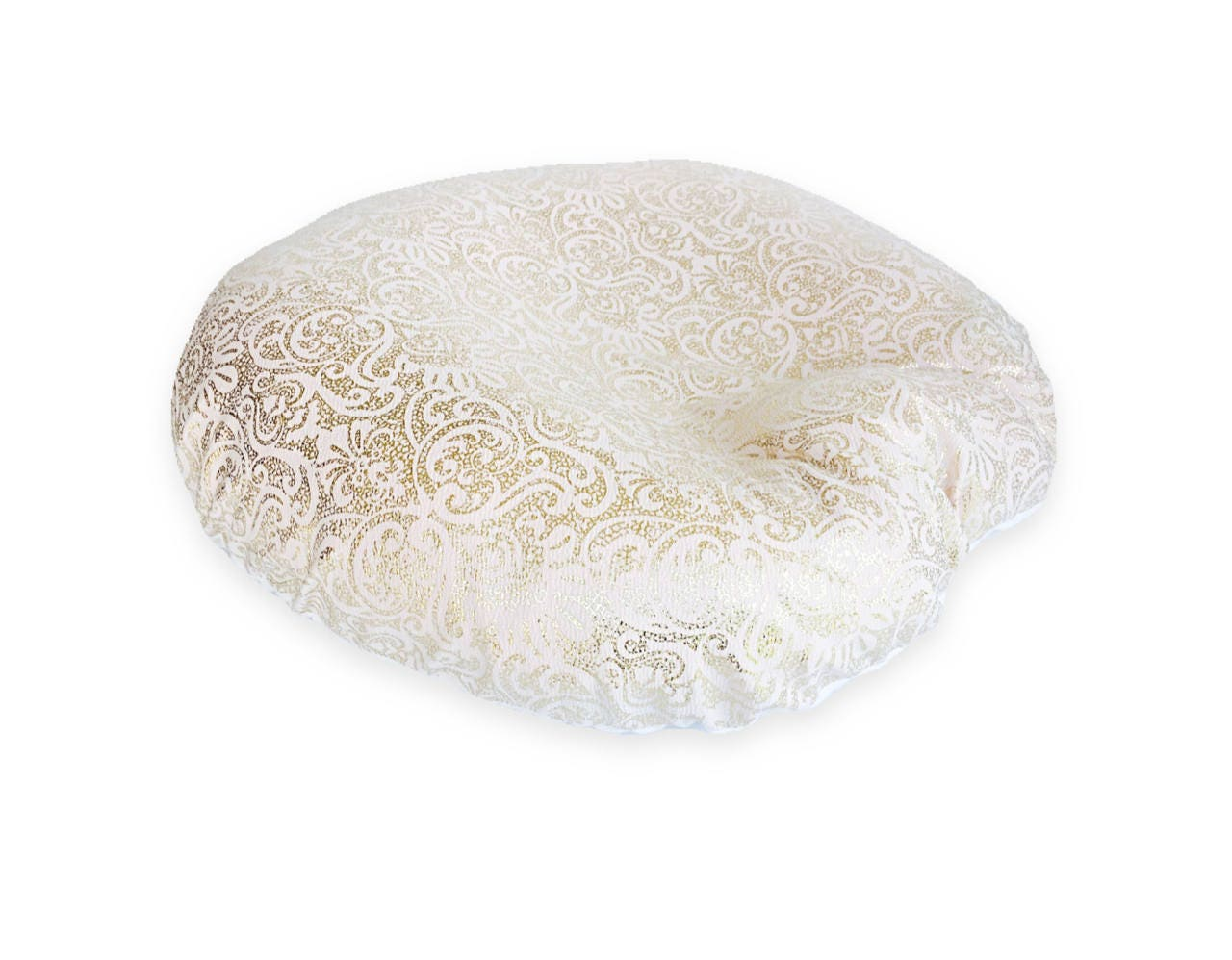 Newborn Lounger Boppy Cover Golden Damask Knit With Soft