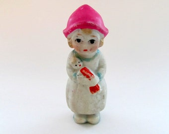 Vintage Bisque Doll/ Made in Japan Penny Doll/ Frozen Charlotte Doll