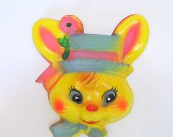 Vintage Easter Bunny Cake Decoration Set of 2/ Bunny Rabbit Cake Top/ Easter Cake Decoration