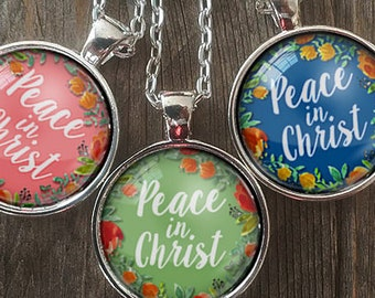 Etsy gift pendant necklace jewelry keychains by homestudio on etsy peace in christ young women in excellence 2018 yw theme peace in christ 2018 peace christ charm peace in christ necklace lds jewelry aloadofball Images