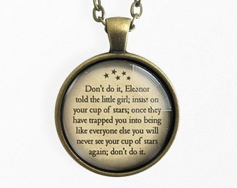 Her Cup Of Stars, The Haunting of Hill House, Quote jewelry, Quote Necklace, Book Lover Gift, Pendant Keychain, Literary Gifts, HomeStudio