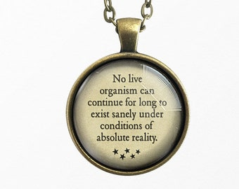 The Haunting of Hill House, Quote jewelry, Quote Necklace, Book Lover Gift, Pendant Keychain, Literary Gifts, Shirley Jackson, Halloween
