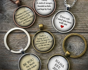 Personalized Keychain, Custom Quote Jewelry, Personalize Key Chain, My Own Quote, Inspiring Word, Inspirational Message, key chain for woman