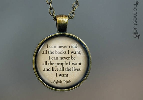 Quote If You Want to Be Happy Be Literary Poem Art Literature Pendant Necklace Vintage Bronze Chain Statement Necklace Handmade Jewelry Gifts