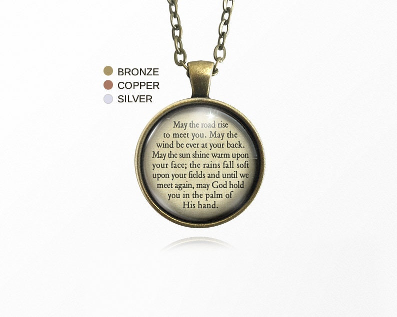 Irish Blessing Jewelry May The Road Rise Up To Meet You May image 0