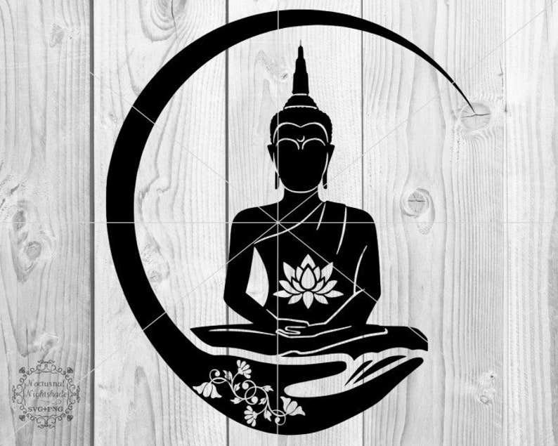 Yoga Chakra SVG Meditation Svg Chakra Lotus Svg Buddha SVG Namaste Cut file For Cricut or Cameo Lotus Flower SVG