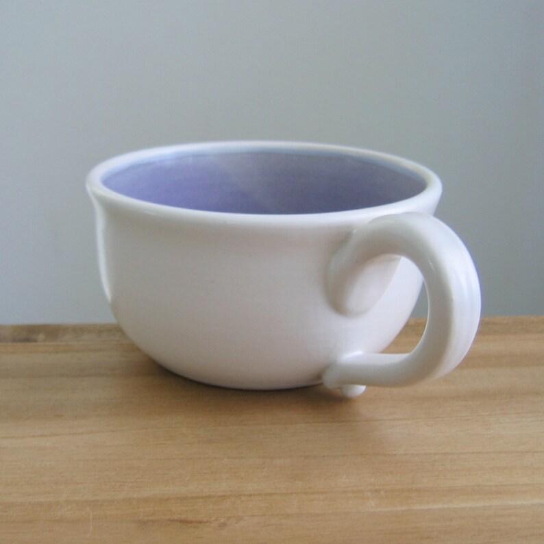 La Et Flocons Tasse À D'avoineCadeau Café Céramique De OzCappuccinoBol Blanc12 Lavande Mug Mauve Dans En SoupeGrès SALRjqc534