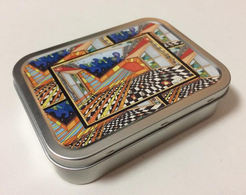 2oz Tobacco Tin featuring Freemasonic Floor image 0