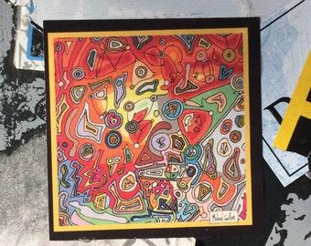 "5cm x 5cm Sticker Pack - ""Boiling Square"" by Michael Carlton"