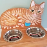 Cat Feeder - Custom Made Cat Food Bowl - Your Cat Feeding Stand