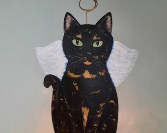 Tortoiseshell Cat Tree Topper, Cat Christmas Tree Topper, Cat Angel