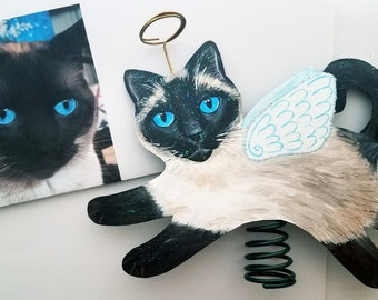Custom Cat Tree Topper, Cat Memorial Gift, Cat Angel, Christmas Tree Topper, Personalized Gift for Cat Lover