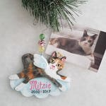 Cat Memorial Ornament - Cat Angel Ornament - Custom Cat Portrait - Cat Portrait Ornament - Cat Memorial Gift