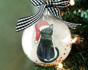 BLACK /& WHITE TUXEDO CAT CHRISTMAS TREE BAUBLE IN GIFT BOX FAST DESPATCH