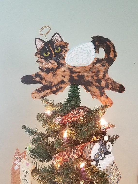 Tortoiseshell Cat Angel Tree Topper Tortie Cat Cat | Etsy
