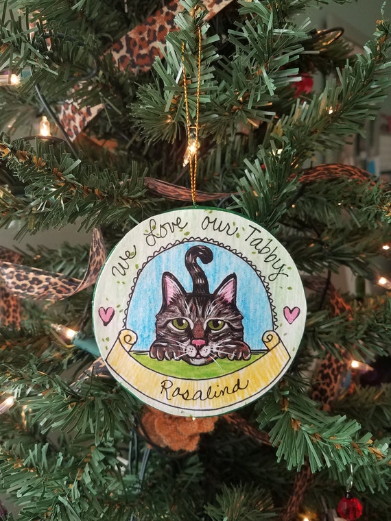 - Personalized Cat Ornament Tabby Cat Christmas Ornament Cat