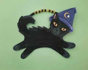 Black Cat Halloween Wall Art