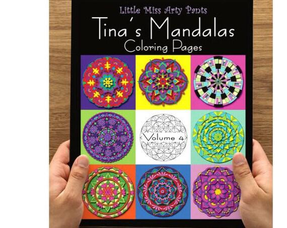Mandala Coloring Book -  Volume 4 - Mandala Coloring Pages - Coloring Books - Adult Coloring Book - Mandala Pages - Stress Relief Coloring