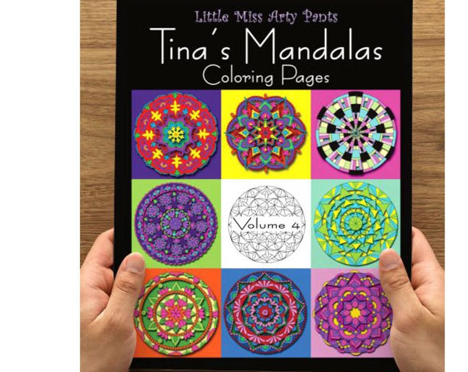 Mandala Coloring Book -  Volume 4 - Mandala Coloring Pages - Coloring Books - Adult Coloring Book - Mandala Pages - Stress Relief Coloring