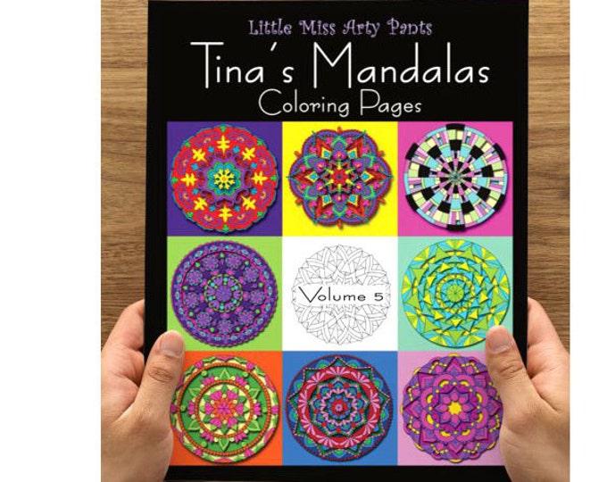 Mandala Coloring Book - Volume 5 - Mandala Coloring Pages - Coloring Books - Adult Coloring Book - Mandala Pages - Stress Relief Coloring