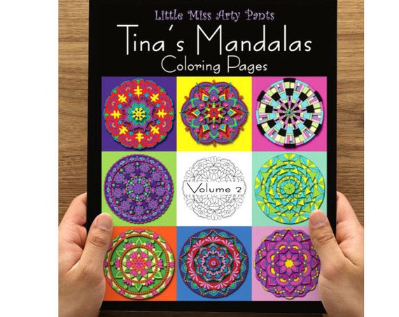 Mandala Coloring Book -  Volume 2 - Mandala Coloring Pages - Coloring Books - Adult Coloring Book - Mandala Pages - Stress Relief Coloring