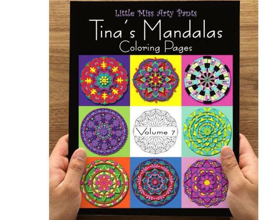 Mandala Coloring Book - Volume 7 - Mandala Coloring Pages - Coloring Books - Adult Coloring Book - Mandala Pages - Stress Relief Coloring
