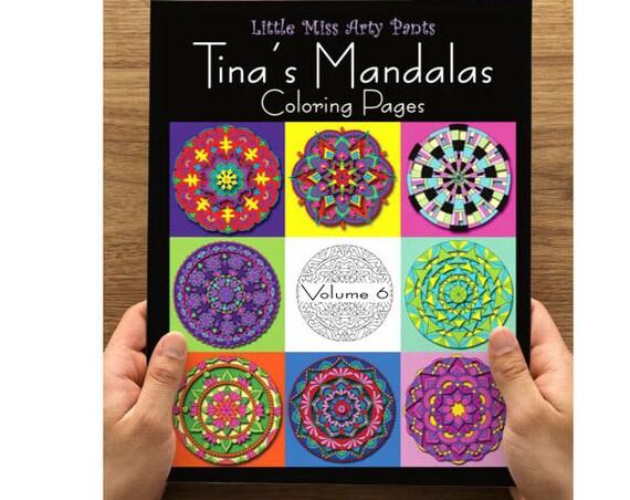 Mandala Coloring Book -  Volume 6 - Mandala Coloring Pages - Coloring Books - Adult Coloring Book - Mandala Pages - Stress Relief Coloring