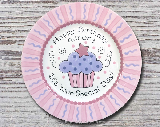 Personalized Birthday Plates - Happy Birthday Plate - 1st Birthday Plate - Hand painted Ceramic Birthday Plate - It's Your Special Day