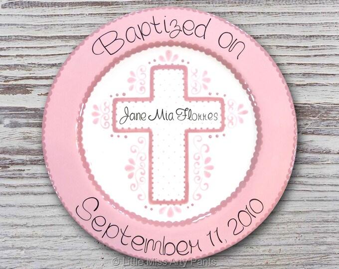 Personalized Baptism & Communion Plates- Personalized Ceramic Plate- First Communion Gift - Baptism Gift - Baptism Plate - Communion Plate