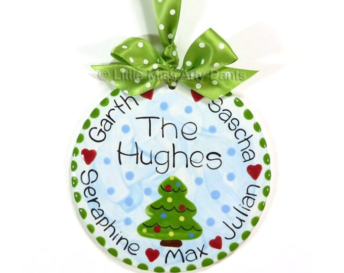 Personalized Ceramic Christmas Ornament - Ceramic Christmas Ornaments - Personalized Ceramic Family Christmas Tree Ornament