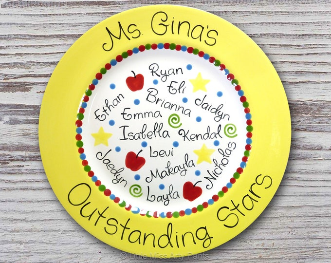 Personalized Teacher Plate - Teacher Gift - World's Best Teacher - Personalized ceramic plate