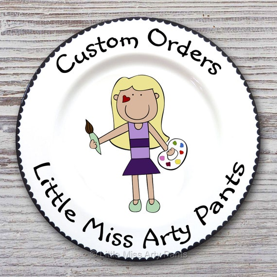 Custom order for ALISON - Sweet Heart Design Plate
