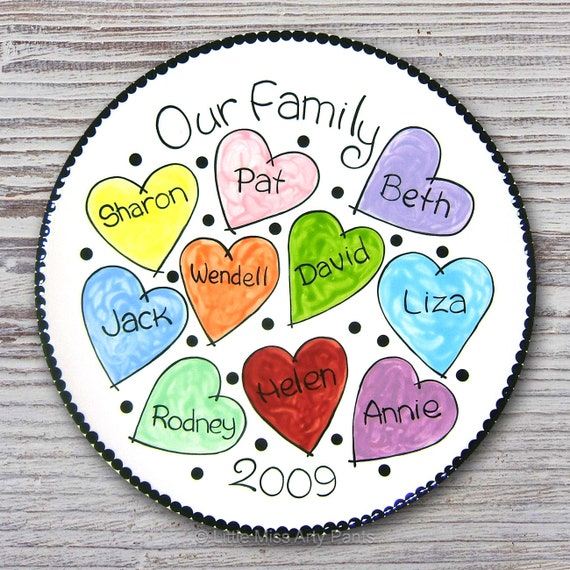 Personalized Family Plate - Our Family - Family Plate - Personalized Family Plate - Adoption Gift - Housewarming plate
