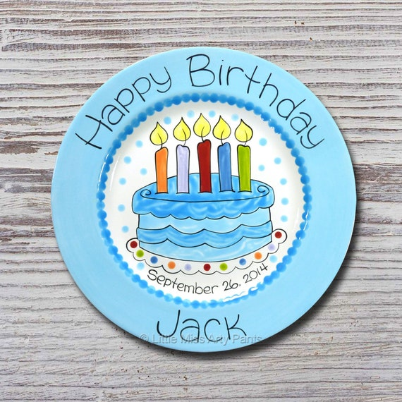 Sensational Personalized Birthday Plates Happy Birthday Plate 1St Etsy Personalised Birthday Cards Petedlily Jamesorg