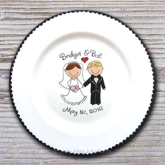 Personalized Wedding Signature Plate - Guest Book Plate - Wedding Gift- Personalized Wedding Plate - Signature Platter - Wedding Couple
