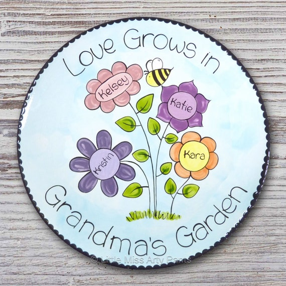 Personalized Family Plate - Love Grows - Family Plate - Personalized Family Plate - Adoption Gift - Housewarming plate