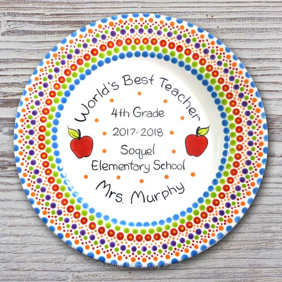 Mandala Teacher Plate - Teacher Plate - Teacher Gift - Worlds Best Teacher - Mandala Plate - Personalized Plate