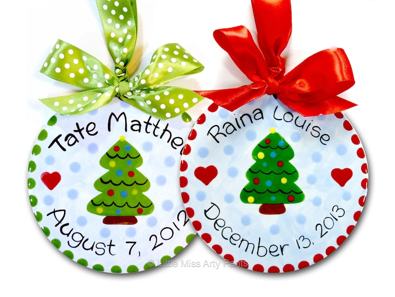 Personalized Christmas Ornament Ceramic Christmas Ornaments Personalized Ceramic Christmas Tree Ornament Christmas Tree 1st Christmas