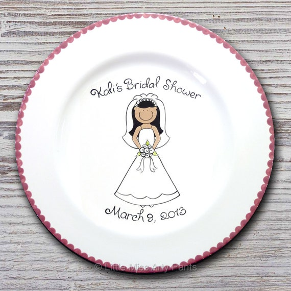Personalized Wedding Signature Plate - Guest Book Plate - Wedding Gift- Personalized Wedding Plate - Signature Platter - Happy Bride Design