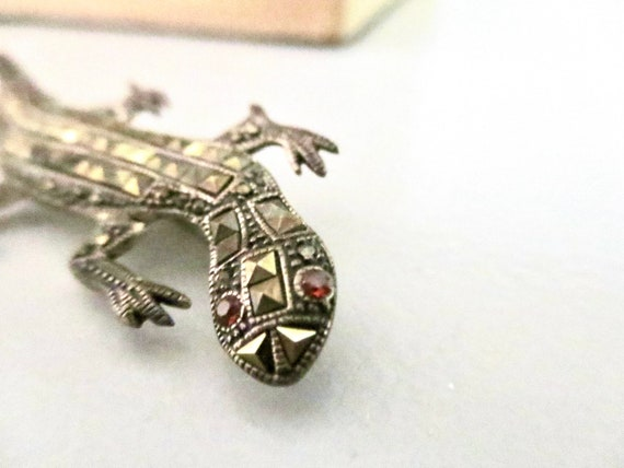 Vintage African Bronze Spotted Lizard Pendant