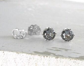 Silver Stud Earrings Alexandrite Earrings Birthstone Stud Earrings June Birthstone Jewelry Alexandrite Stud Earrings Gemstone Stud Earrings