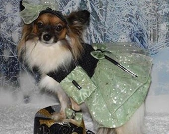 CUSTOM SPARKLE ORGANZA Party dog dress - Wedding or Special Occasion - Prom - Check on timing - made to order up to 20 lbs