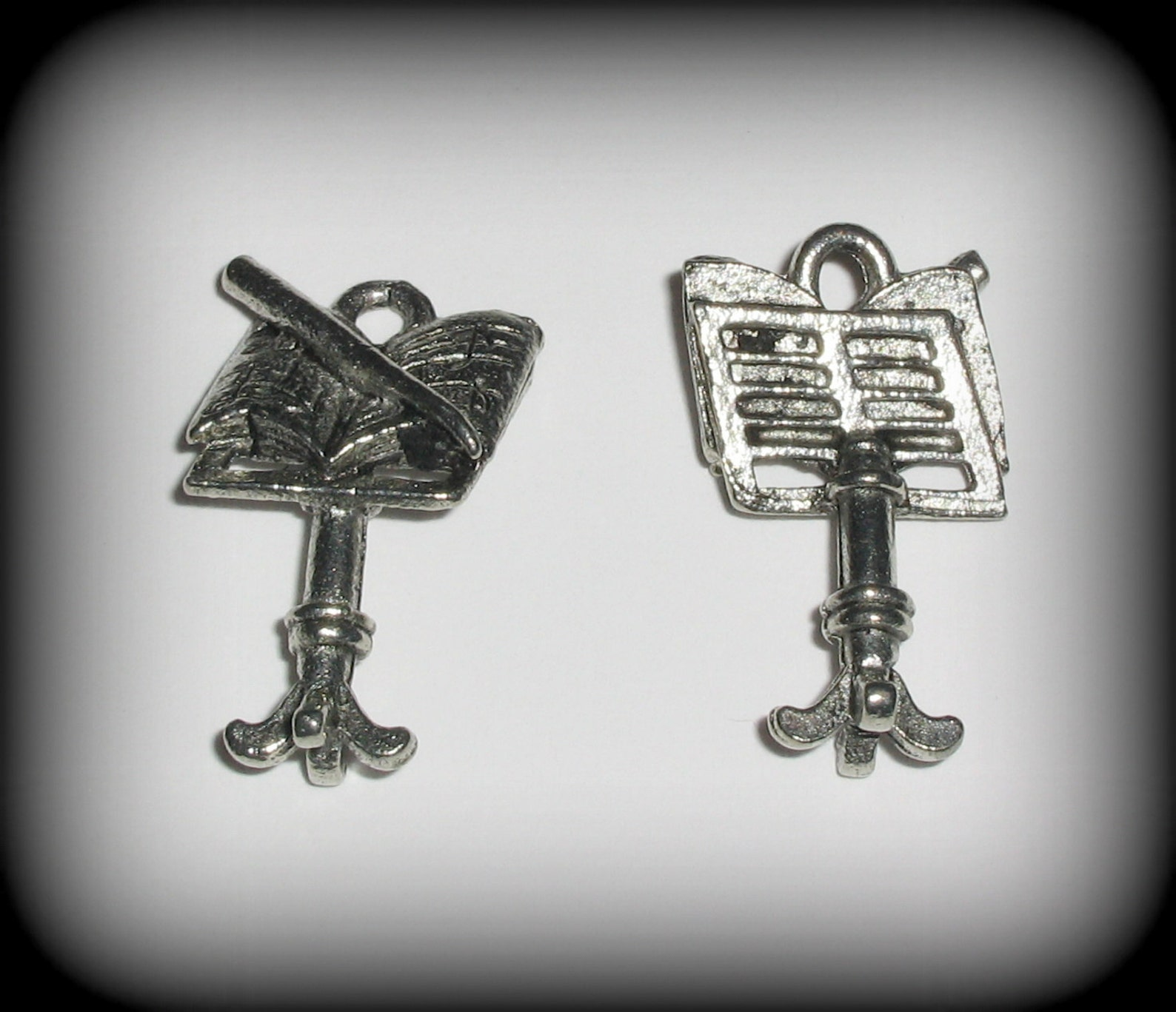 8 silver pewter ballet shoe charms (qb41) - new charm