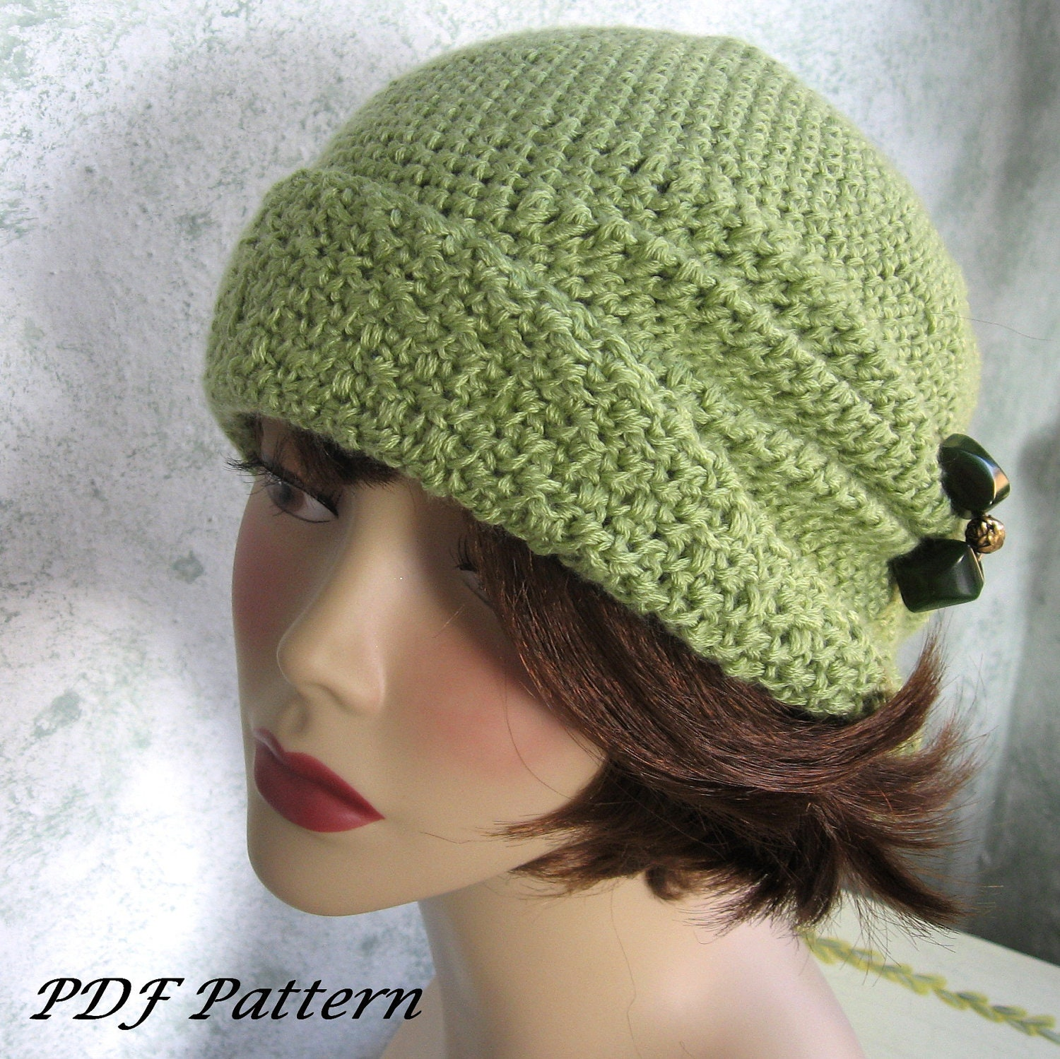 Crochet Pattern Womens Flapper Hat Cloche With Side Pinch Etsy