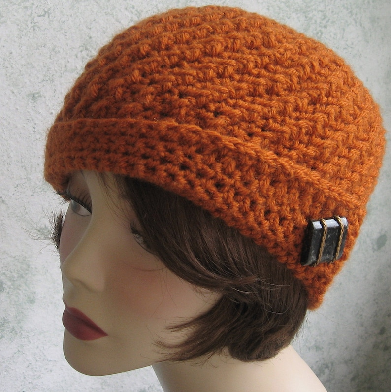 a7d72563f74 Crochet Hat pattern Spiral Rib With Flapper Style Brim Instant