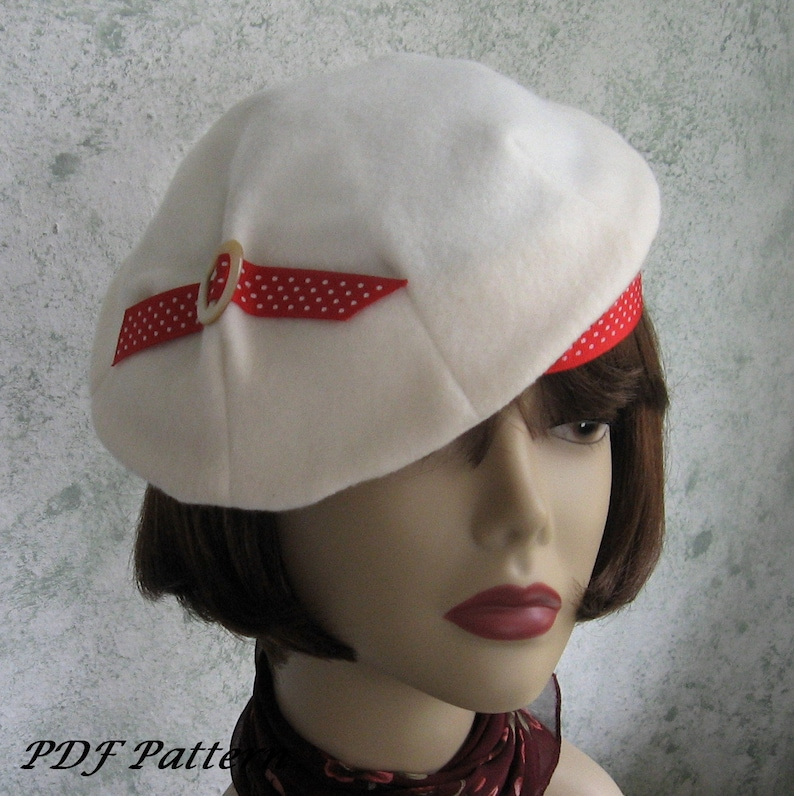 16a3f330b599c Womens 1930s Vintage Hat Pattern Misses Pleated Beret With
