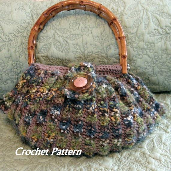 Crochet Purse Pattern Fat Bottom Bag With Tab Button Trim Easy Etsy